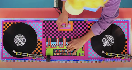 dj decks made from lego